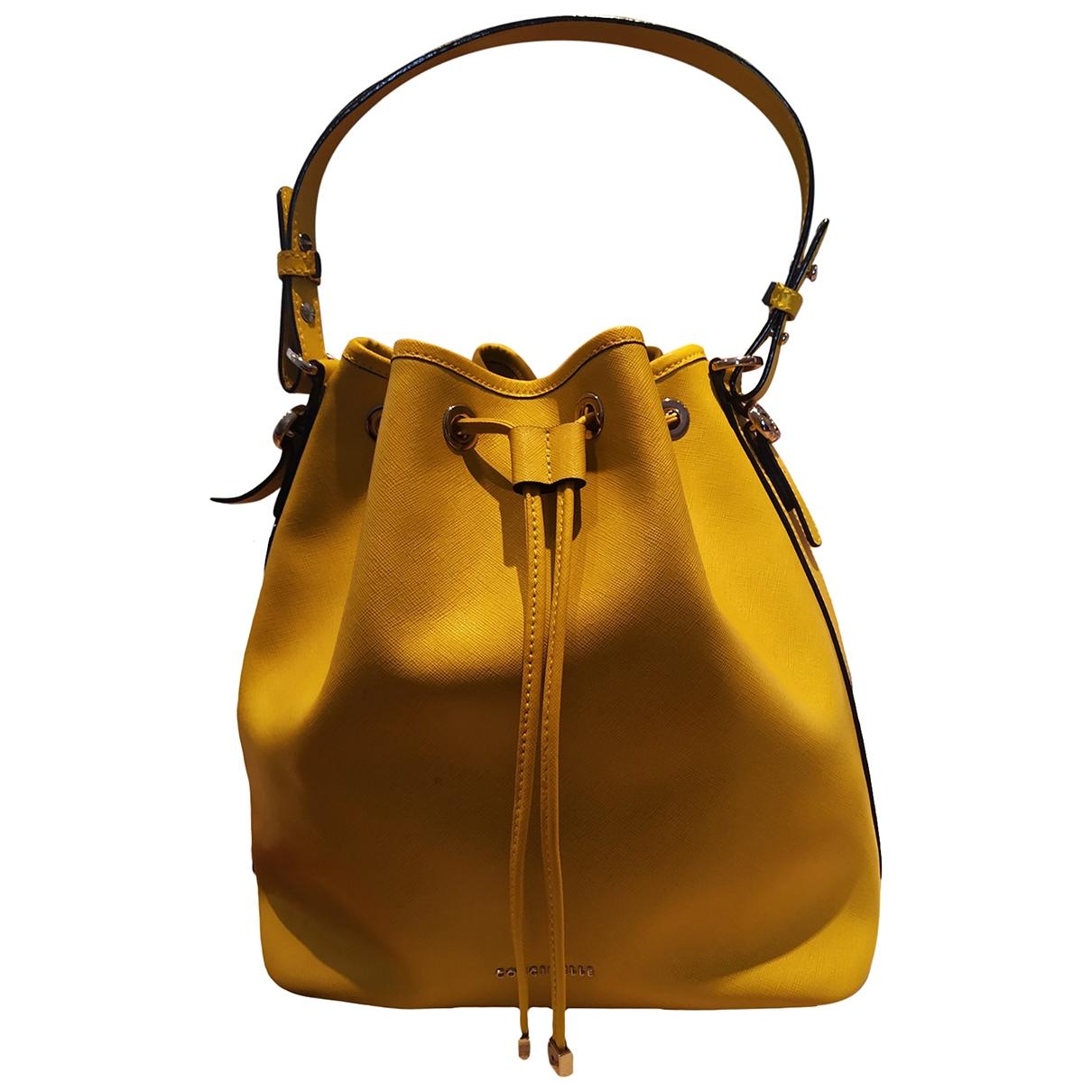 Coccinelle \N Handtasche in  Gelb Leder
