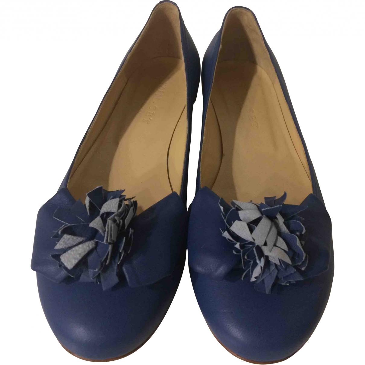 Twin Set \N Ballerinas in  Blau Leder