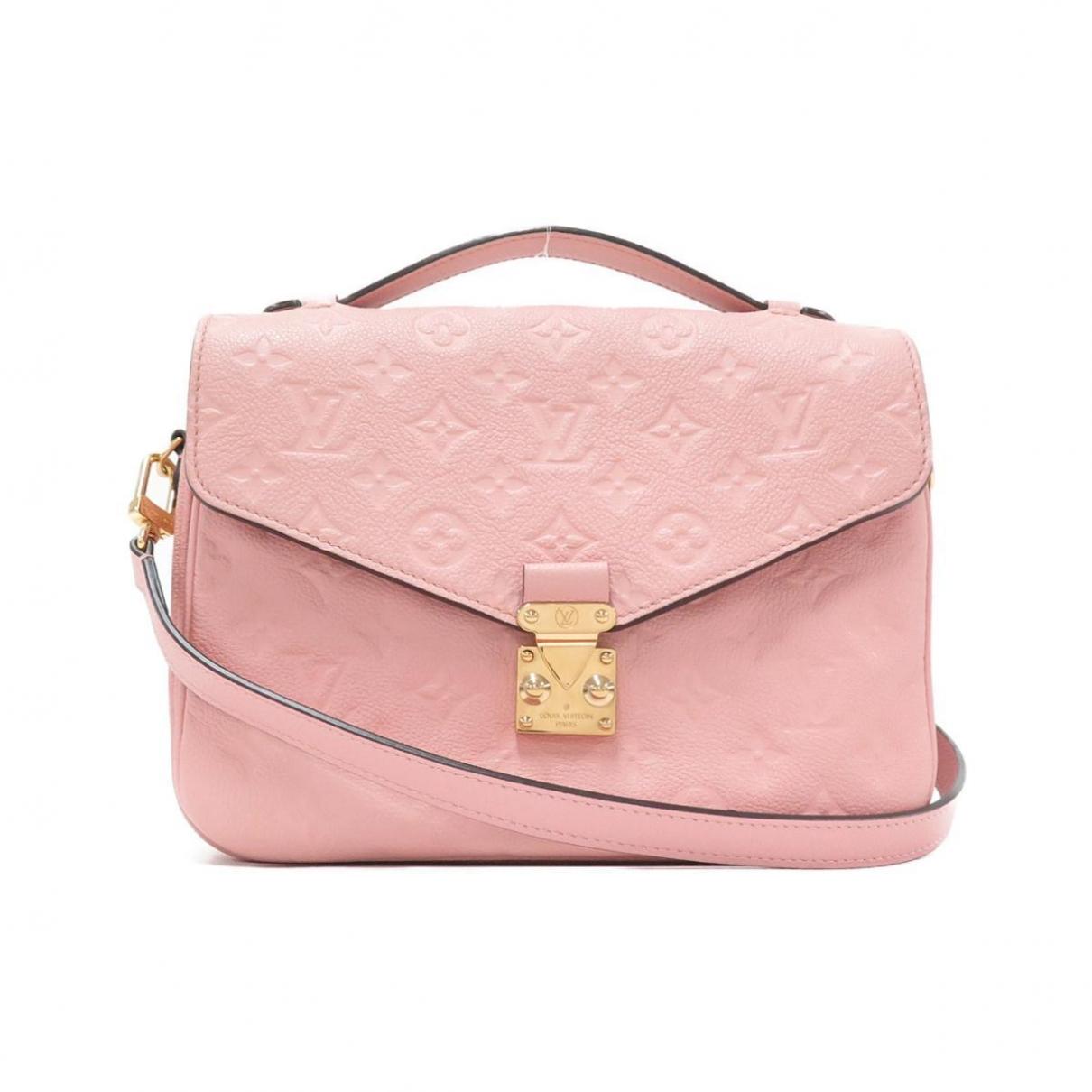 Louis Vuitton - Sac a main Metis pour femme en cuir - rose