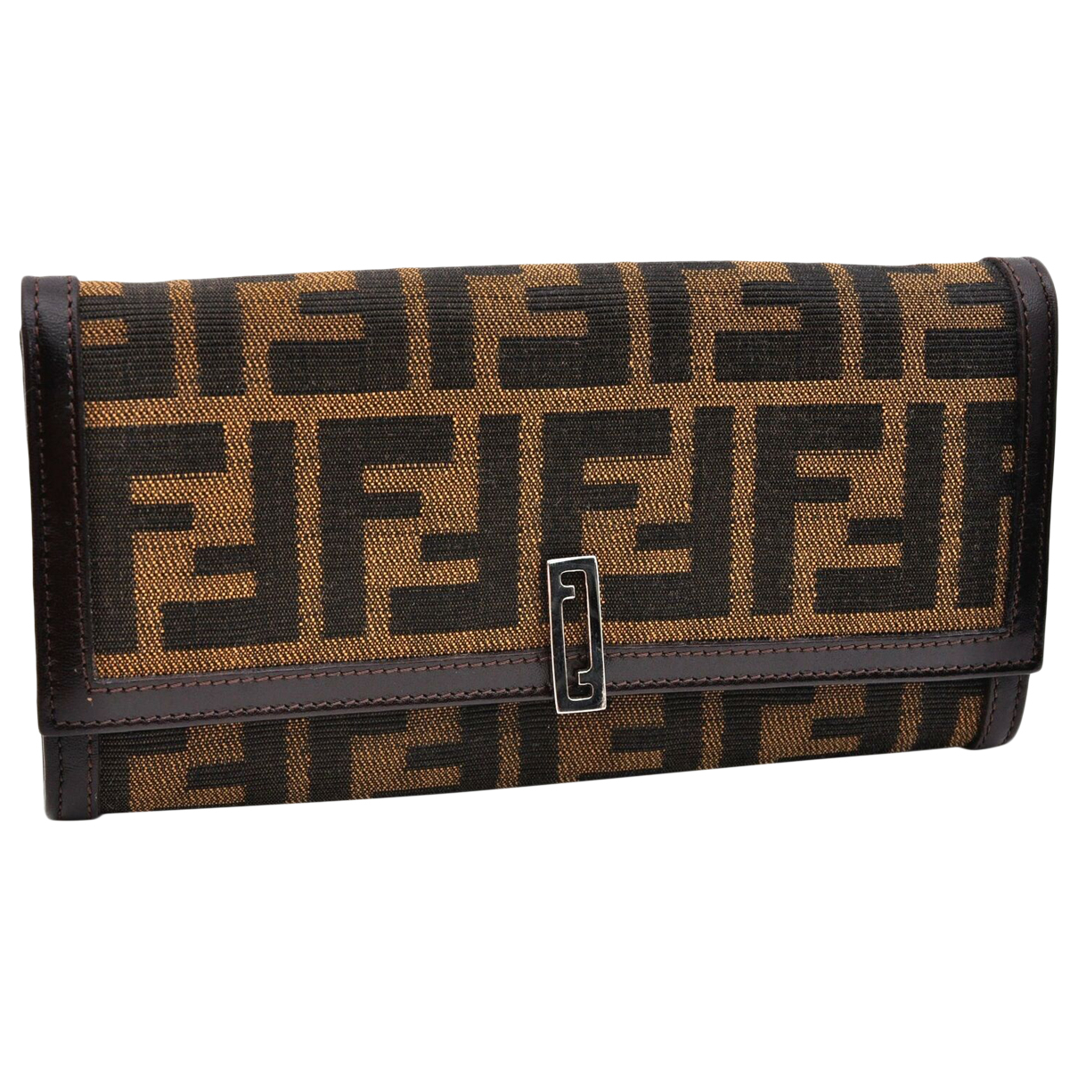 Fendi N Brown Cloth wallet for Women N