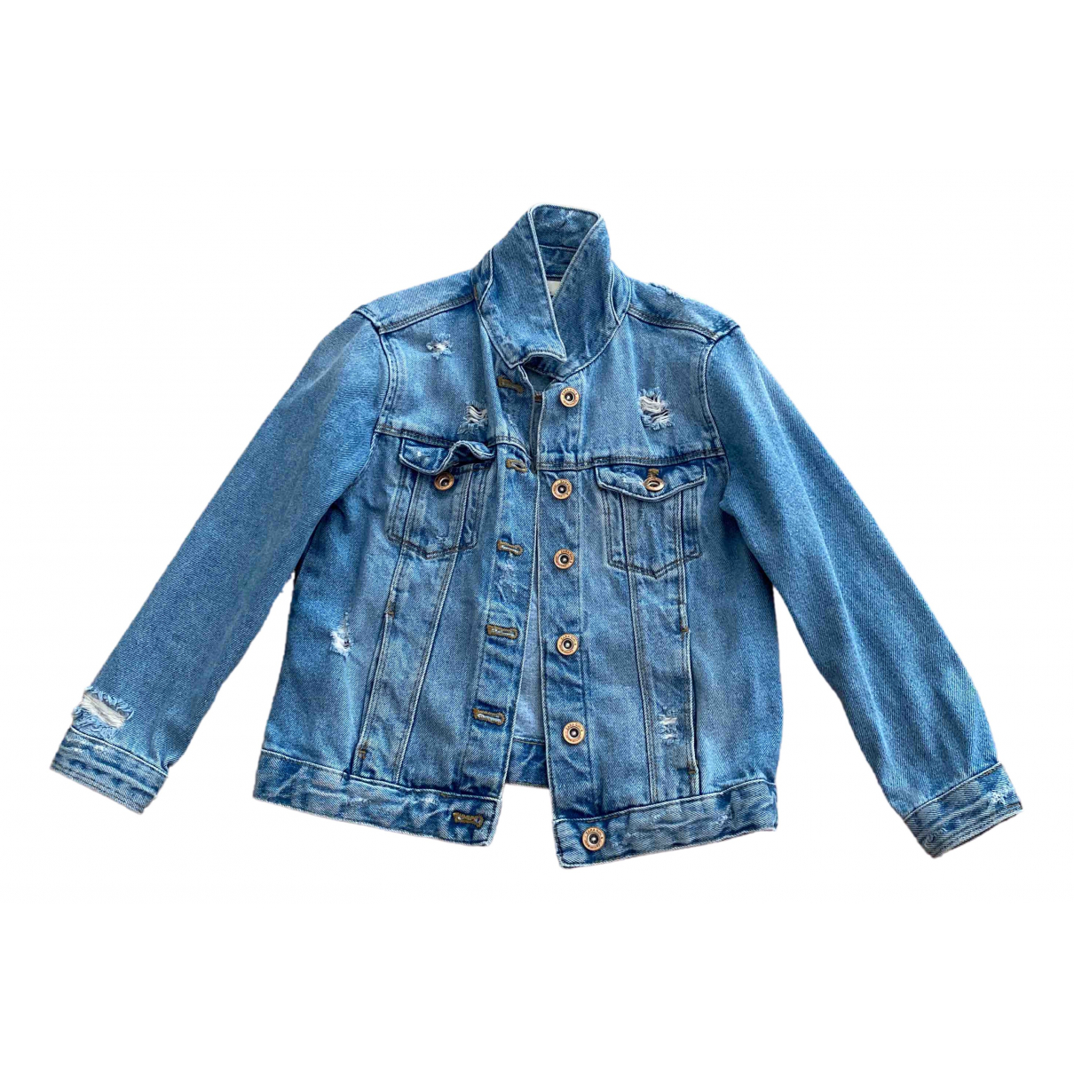 Zara \N Jacke, Maentel in Denim - Jeans