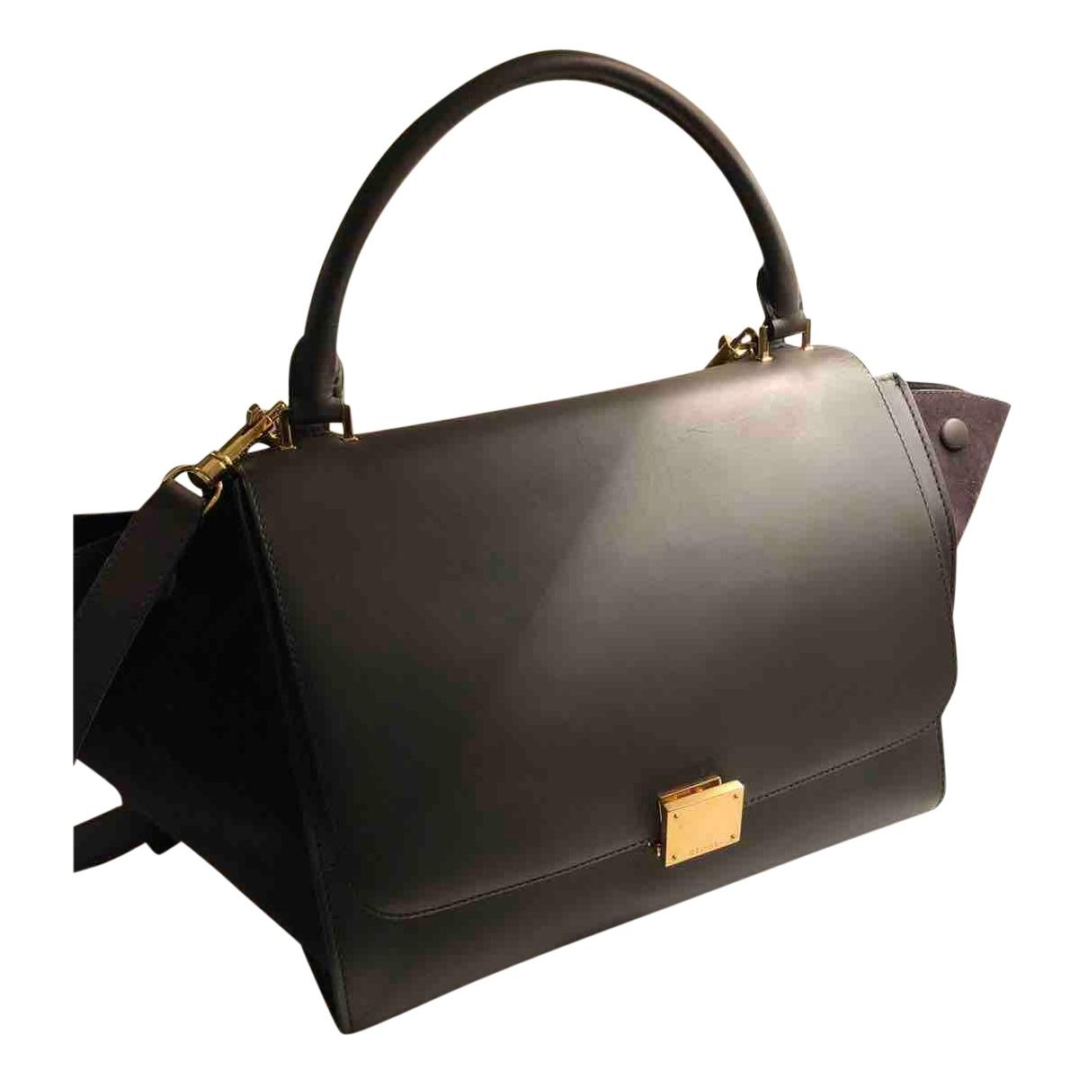 Celine Trapeze Handtasche in  Schwarz Leder
