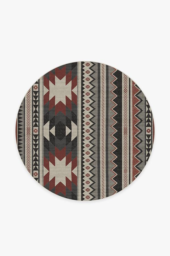 Washable Rug Cover | Yuma Sumac Rug | Stain-Resistant | Ruggable | 6' Round