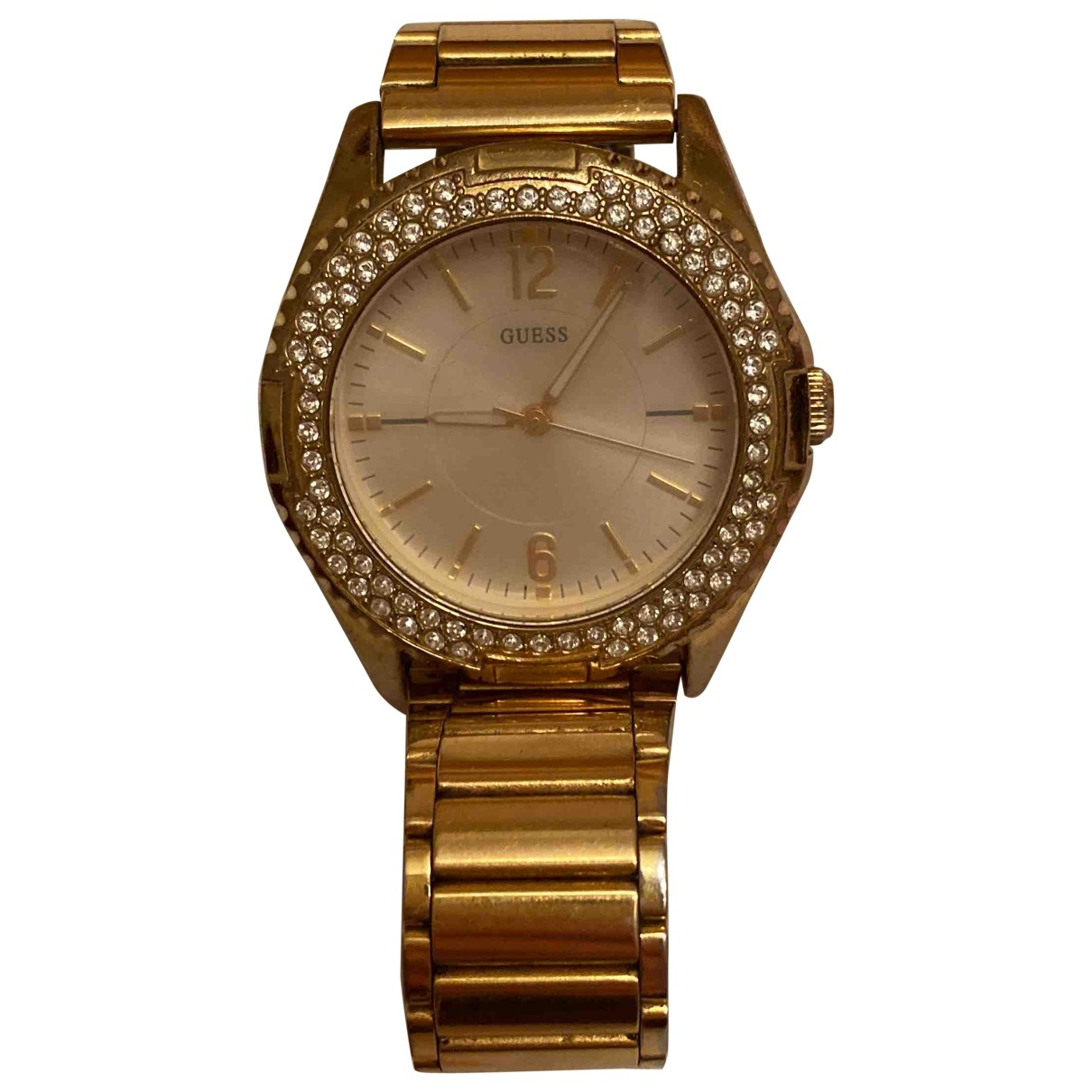 Guess \N Uhr in  Gold Stahl