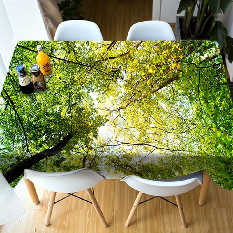 Parties&Picnics Kitchen Vibrant Color Rectangle 3D Tablecloth