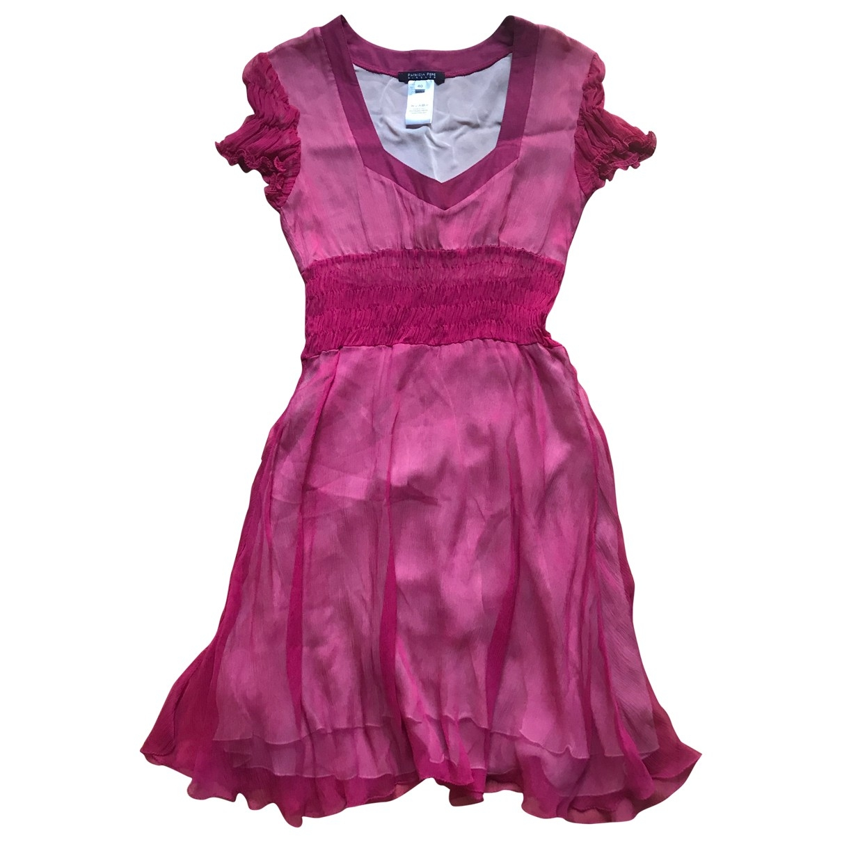Patrizia Pepe \N Pink Silk dress for Women 40 IT