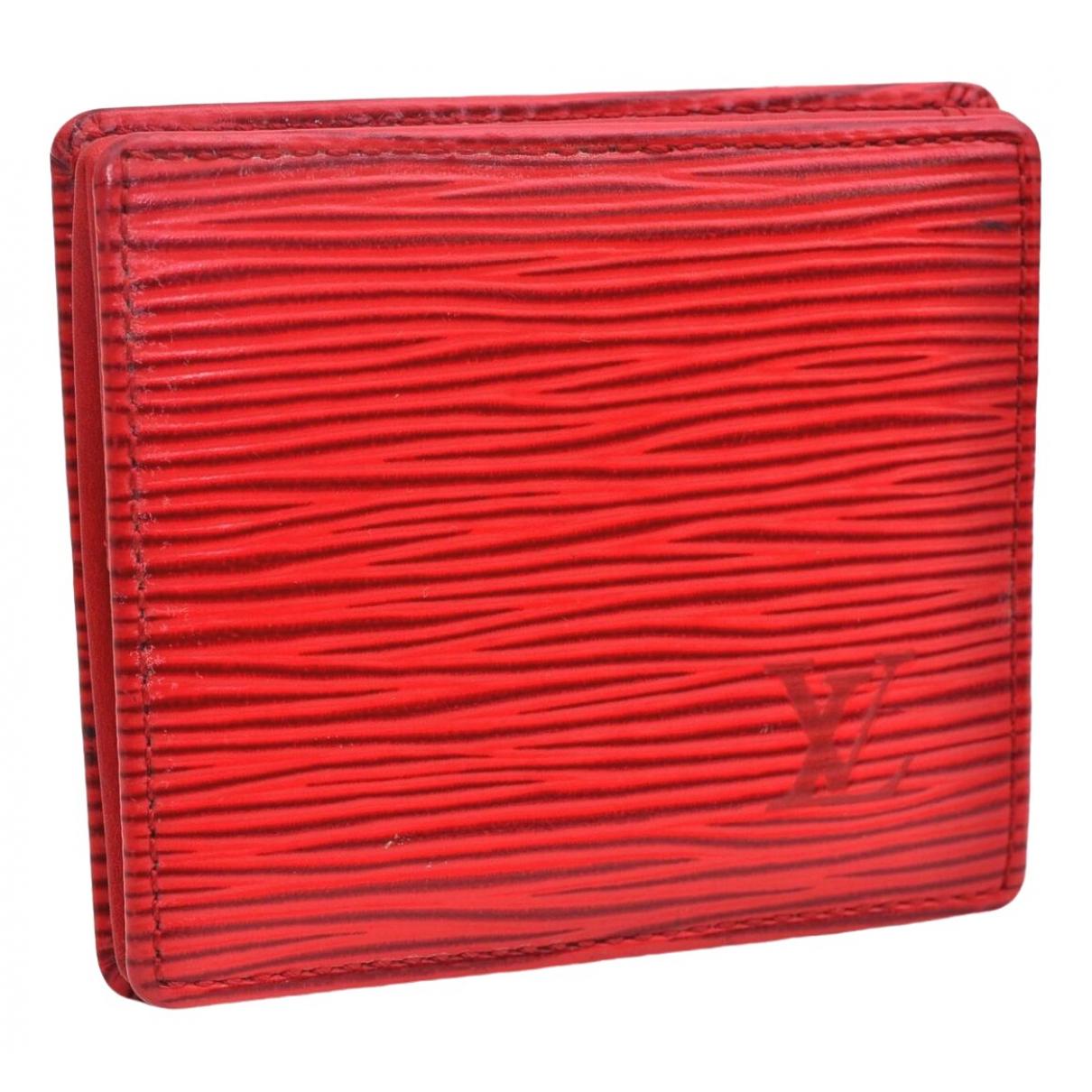Louis Vuitton - Sac a main   pour femme en cuir - rouge