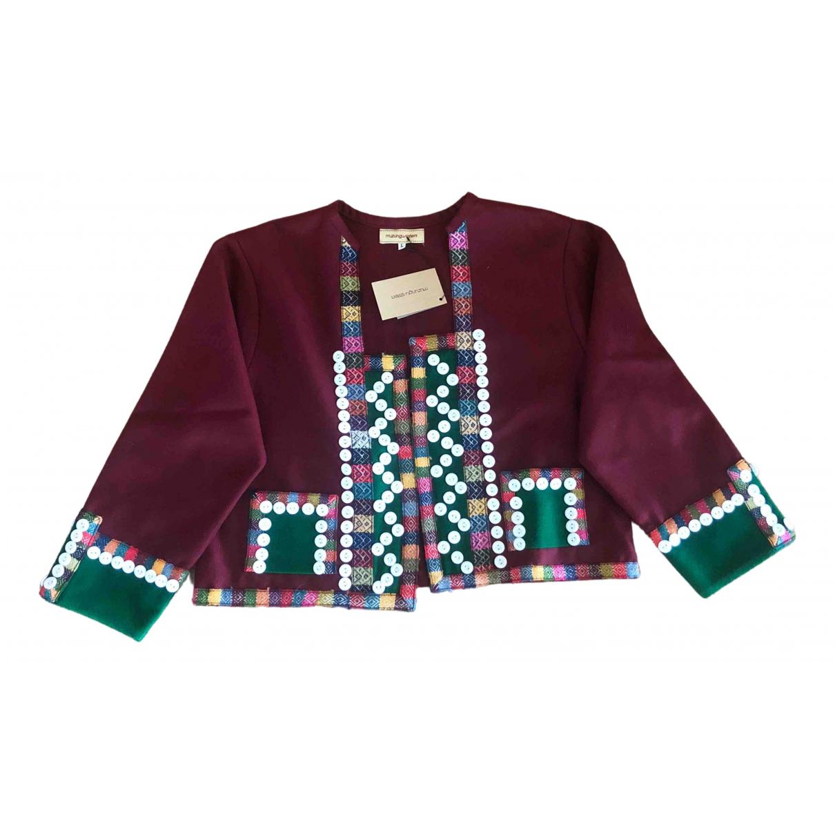 Muzungu Sisters - Veste   pour femme en laine - bordeaux