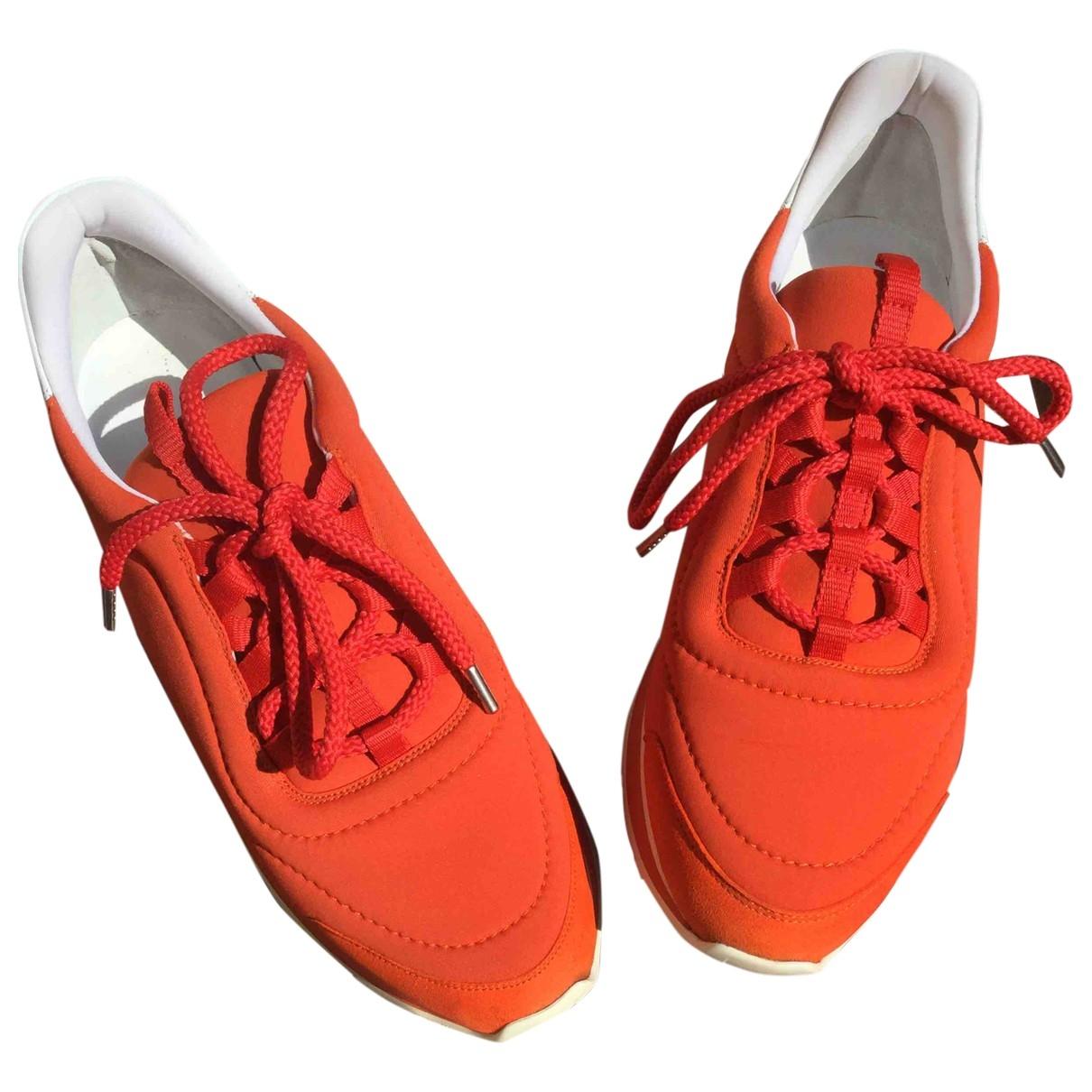 Hermes - Baskets   pour femme - orange