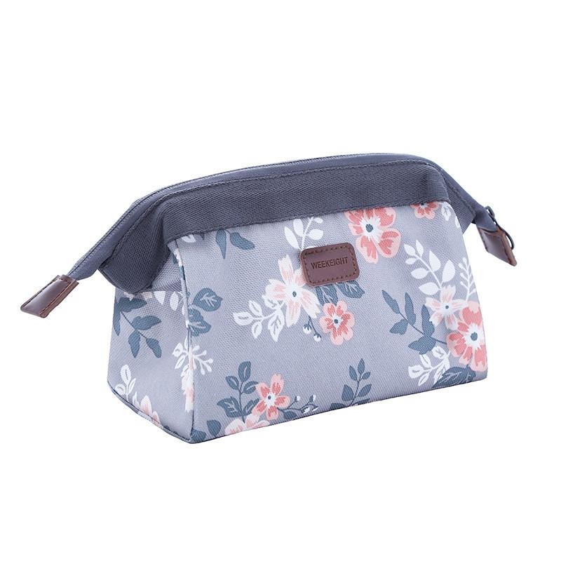 Flamingo Flower Large Capacity Waterproof Cosmetic Bag