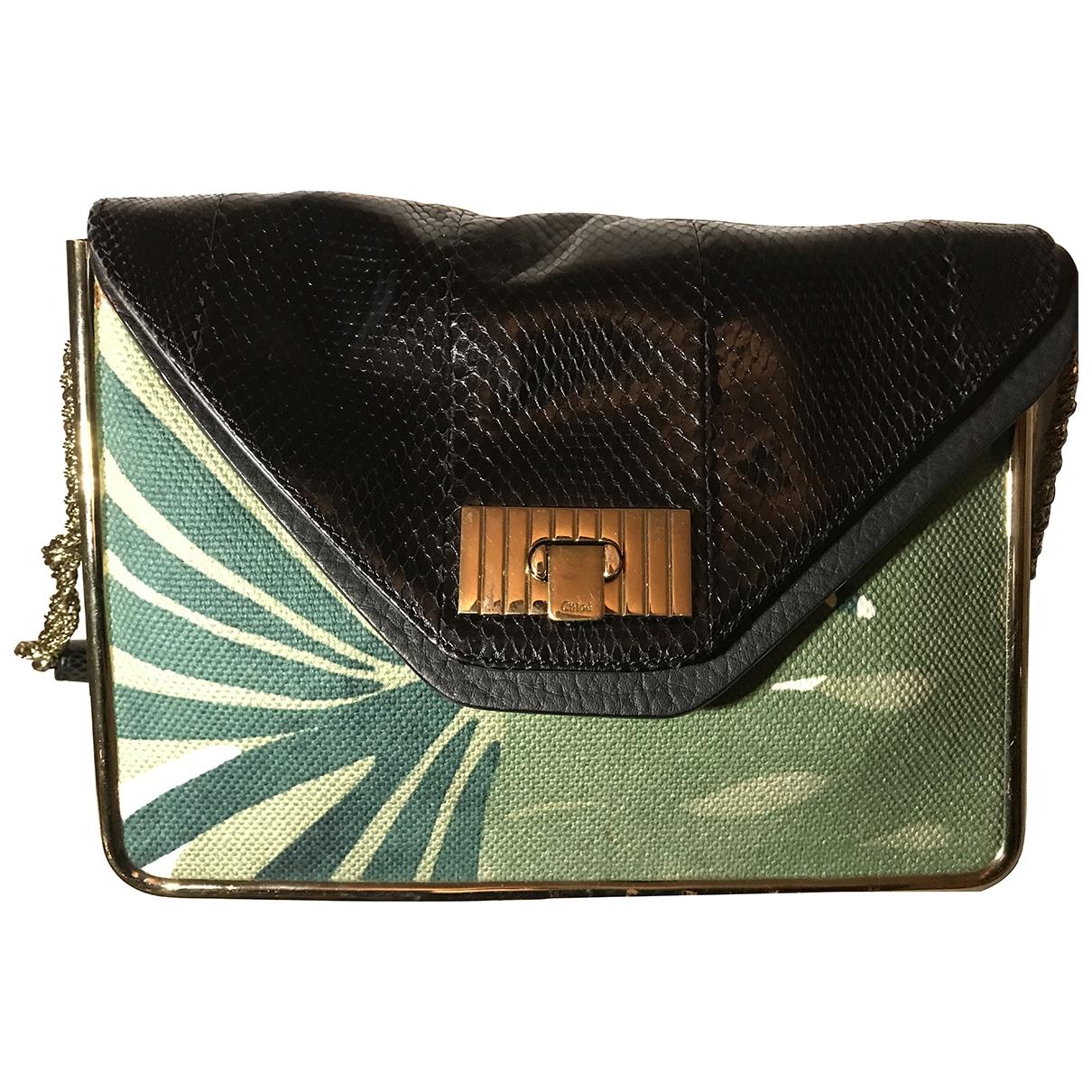 Chloé \N Green Water snake handbag for Women \N