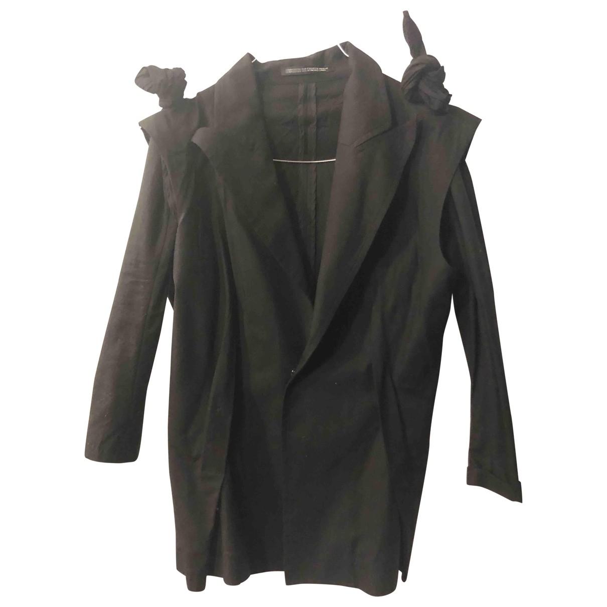 Yohji Yamamoto - Veste   pour femme en coton - noir
