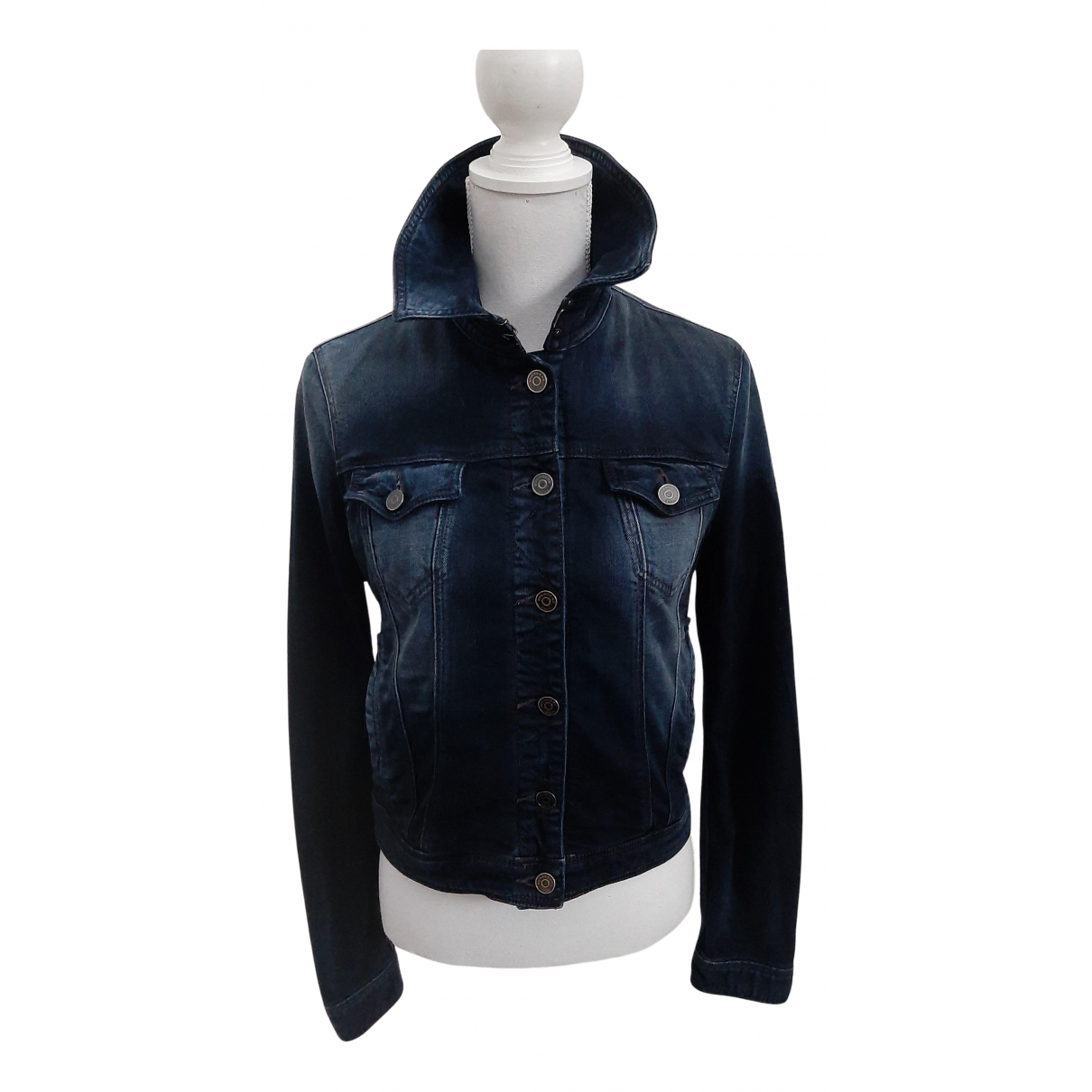 Burberry \N Jacke in  Blau Denim - Jeans
