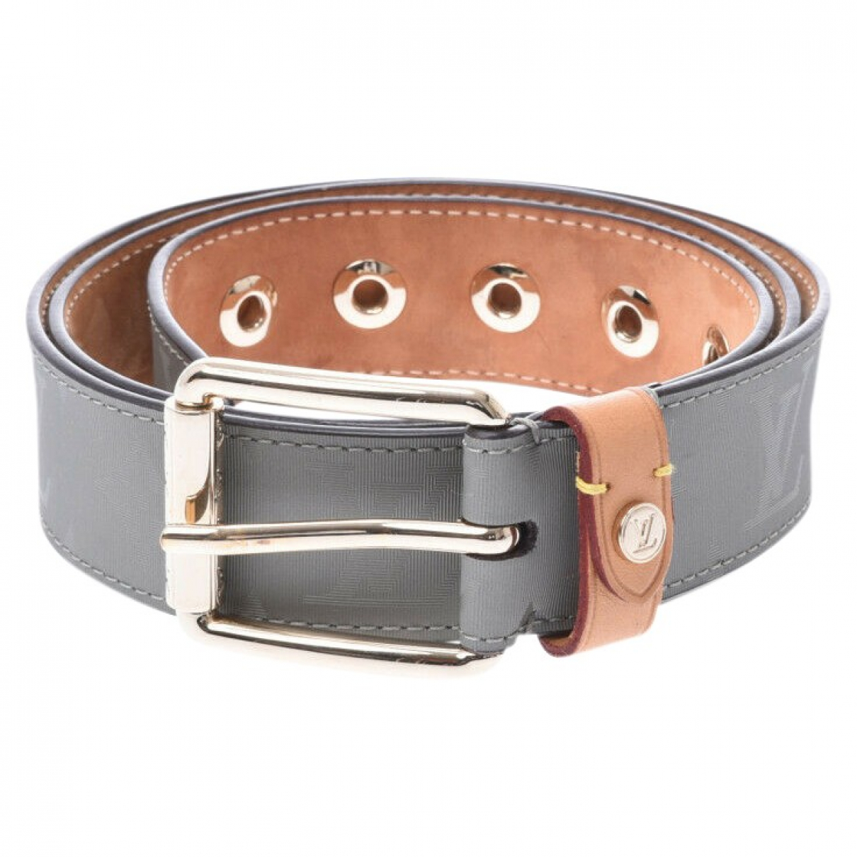 Louis Vuitton \N Grey Cloth belt for Men 95 cm