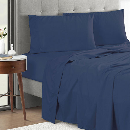 Microfiber Anti Bacterial Polygiene Sheet Set, One Size , Blue