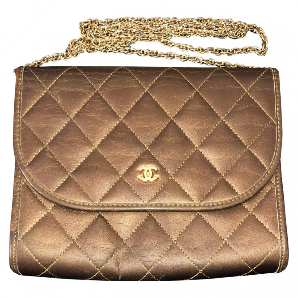 Chanel Wallet on Chain Gold Leather Clutch bag for Women \N