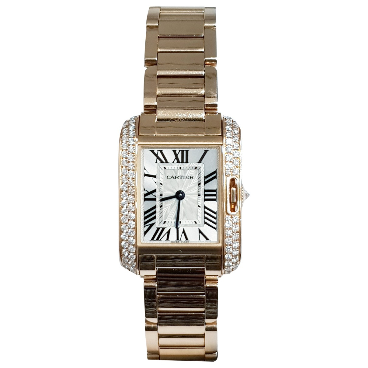 Cartier Tank Anglaise Uhr in  Rosa Rosegold
