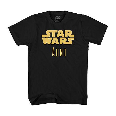 Star Wars Aunt Graphic T-Shirt- Unisex, Medium , Black