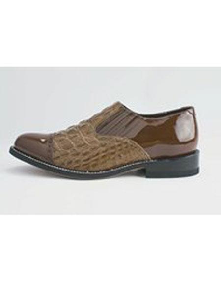 Men's Cushion Insole Cap Toe Brown Leather Shoes