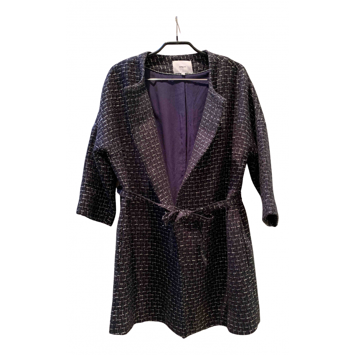 Suncoo - Veste   pour femme en laine - marine