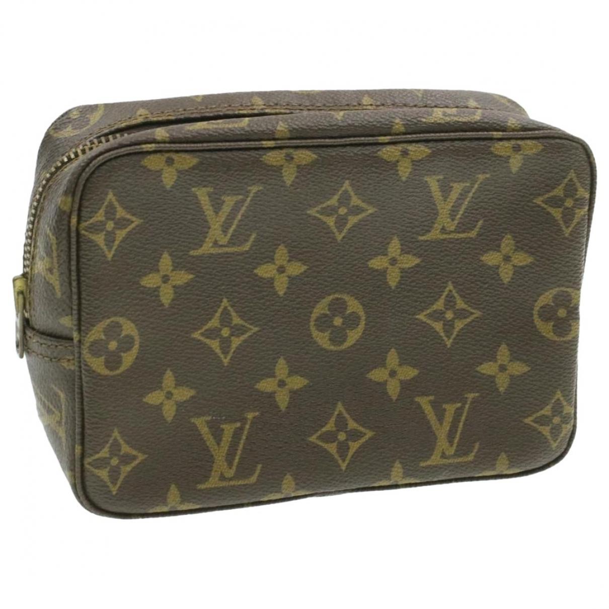 Louis Vuitton Trousse de Toilette  Brown Cloth Travel bag for Women N