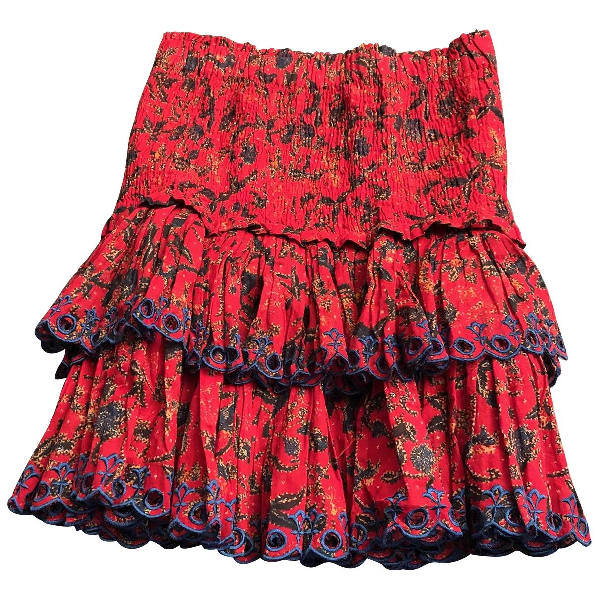 Isabel Marant Etoile \N Rocke in  Rot Baumwolle