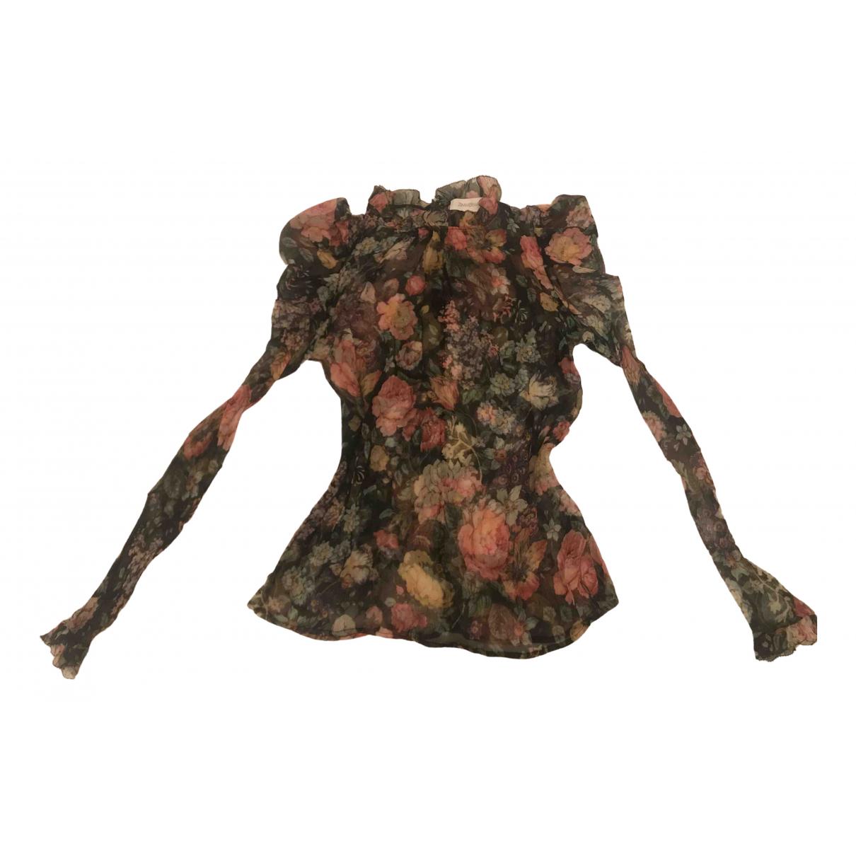 Zimmermann - Top   pour femme en soie - multicolore