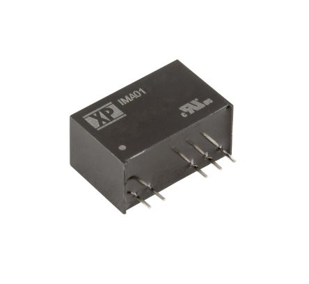XP Power IMA01 1W Isolated DC-DC Converter Through Hole, Voltage in 4.5 → 5.5 V dc, Voltage out 15V dc Medical