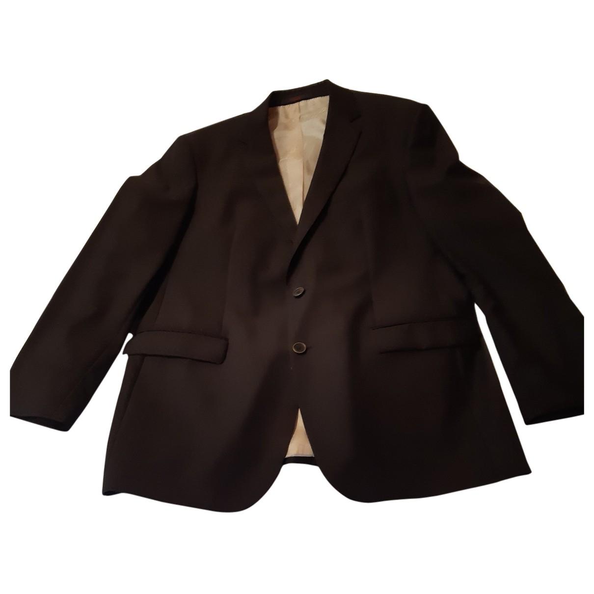 Louis Feraud - Costumes   pour homme en laine - marron