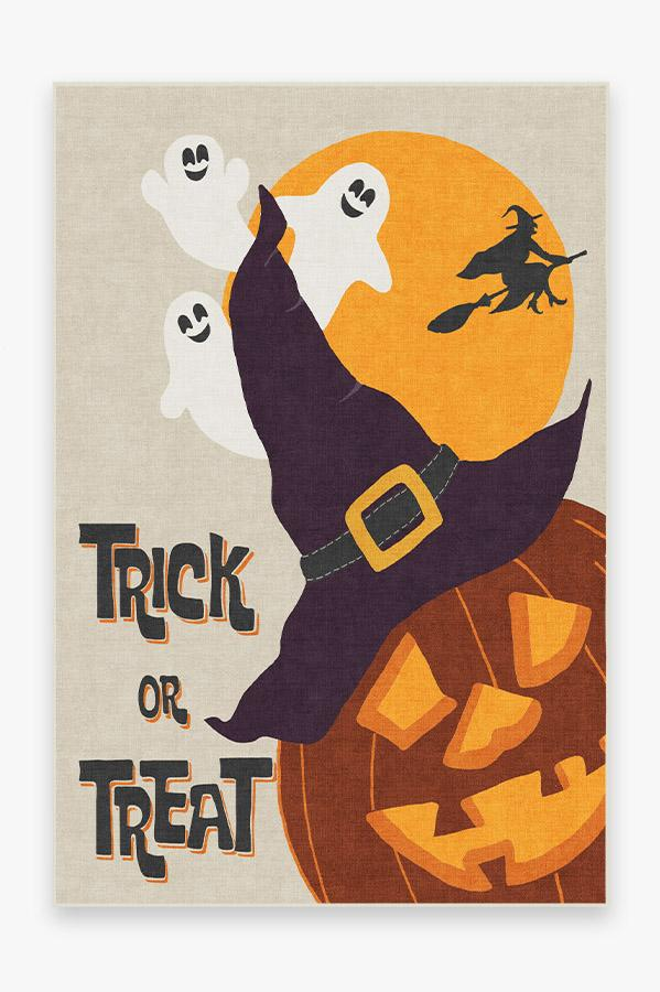 Washable Rug Cover | Spooktacular Rug | Stain-Resistant | Ruggable | 6'x9'