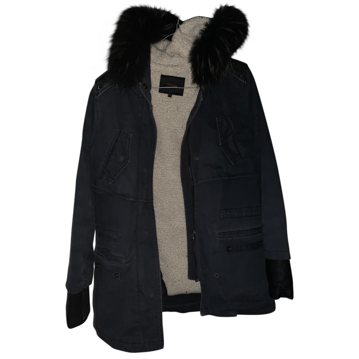 Maje \N Blue Cotton coat for Women S International