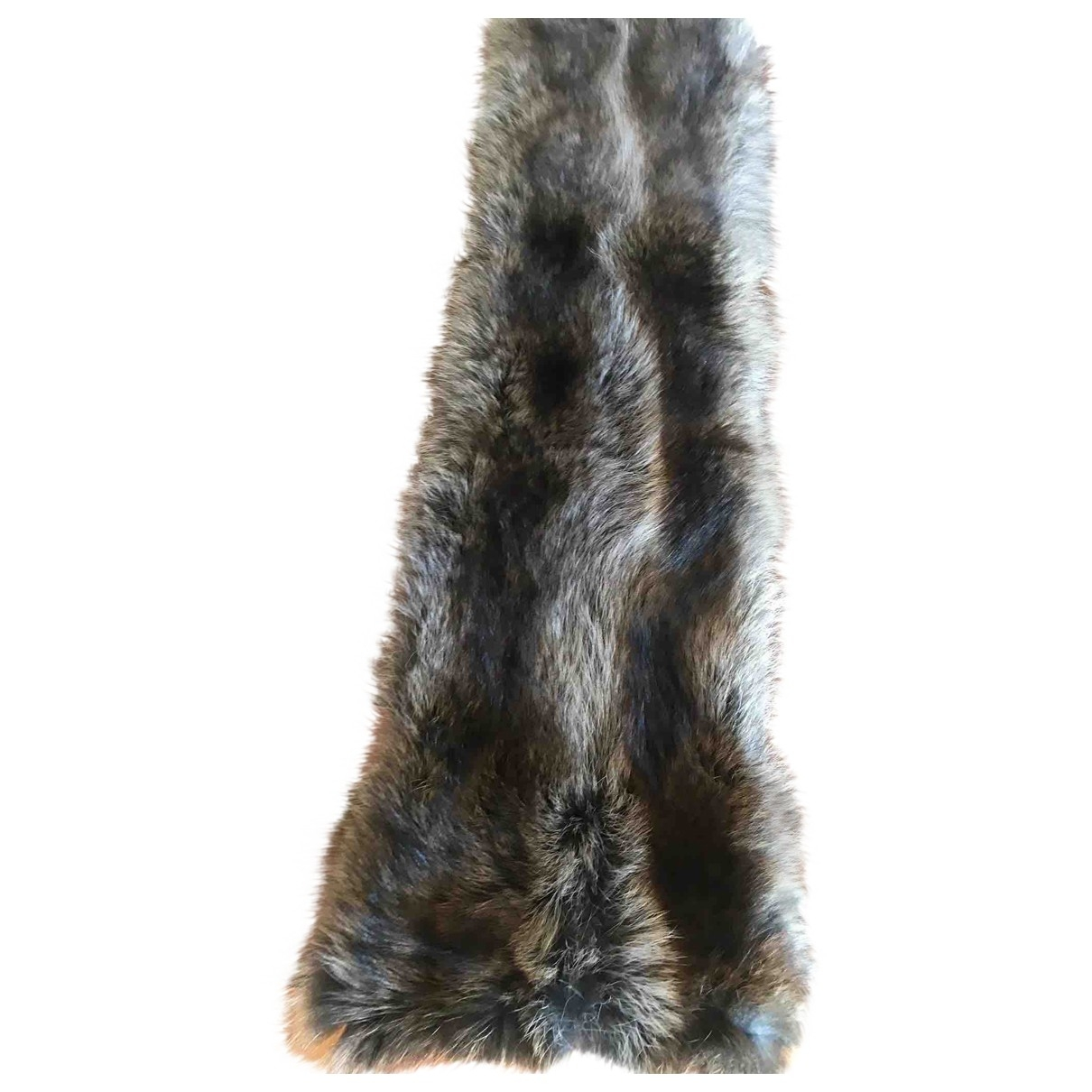 Non Signé / Unsigned \N Grey Raccoon scarf for Women \N