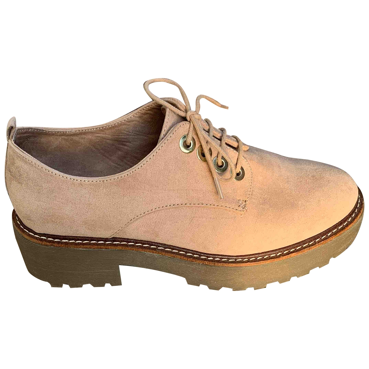 Non Signé / Unsigned \N Pink Suede Lace ups for Women 38 IT