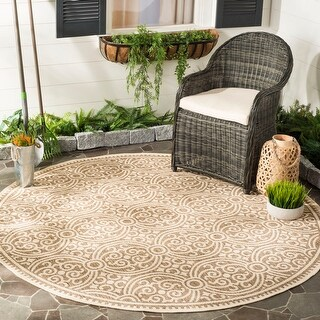 Safavieh Beach House Sabina Indoor/ Outdoor Rug (Cream/Beige 6'7