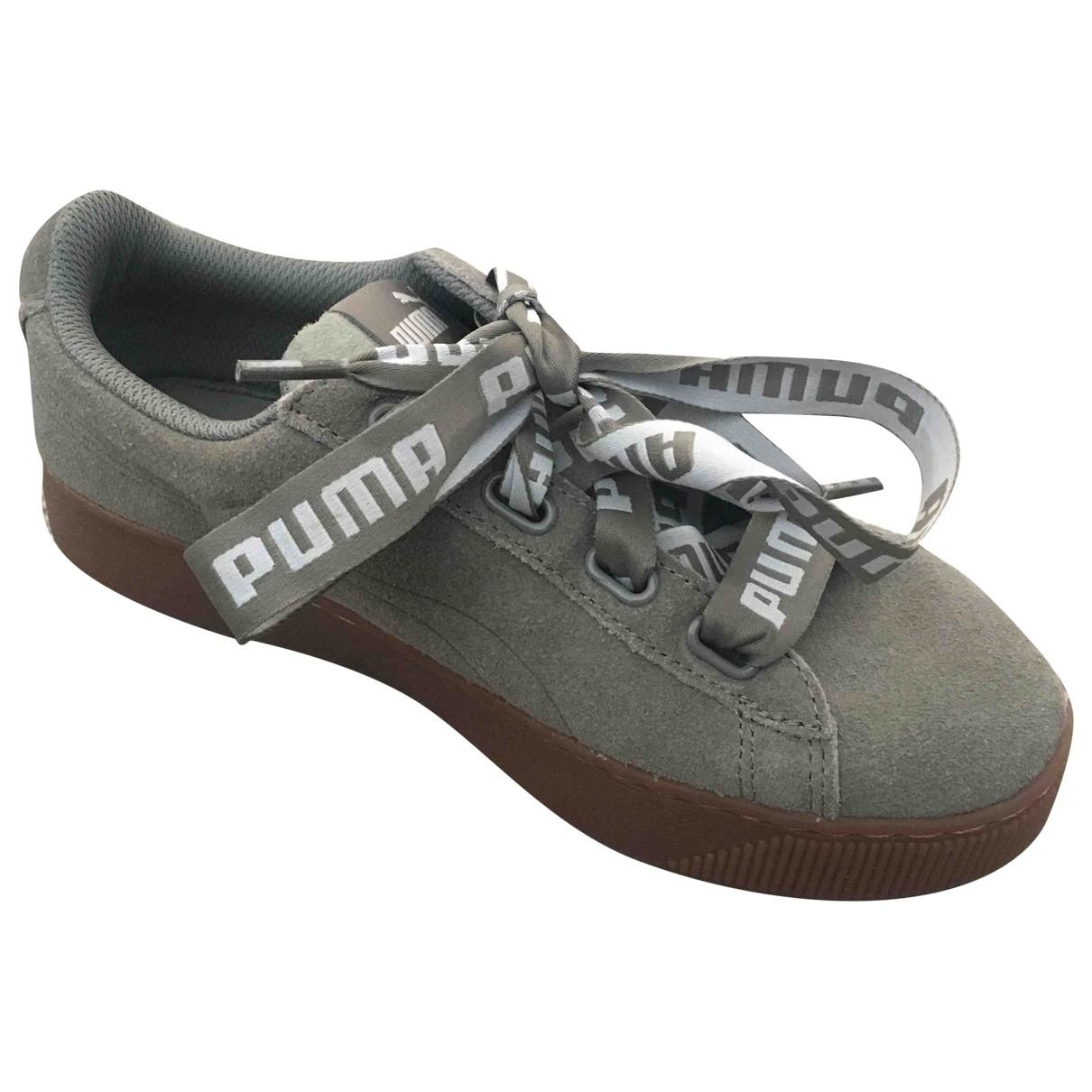 Puma - Baskets   pour femme en suede - gris