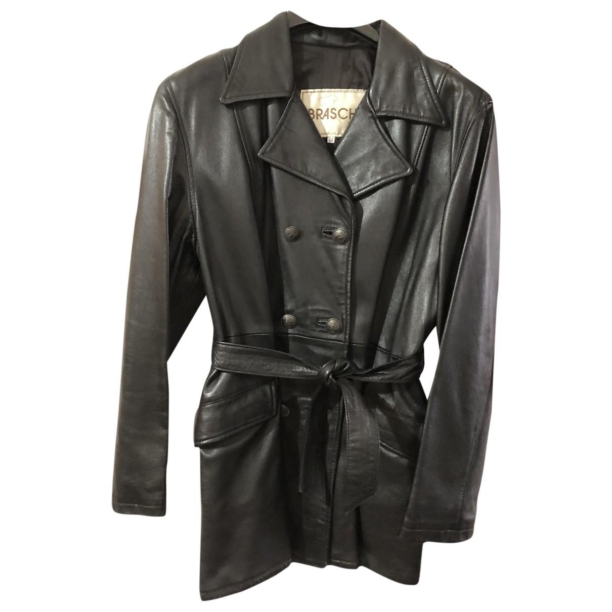 Braschi \N Black Leather jacket for Women 44 IT