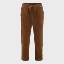 Pantalones de cintura con cordon