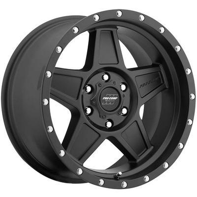 Pro Comp 35 Series Predator, 17x8.5 Wheel with 6 on 5.5 Bolt Pattern - Satin Black - 5035-78583