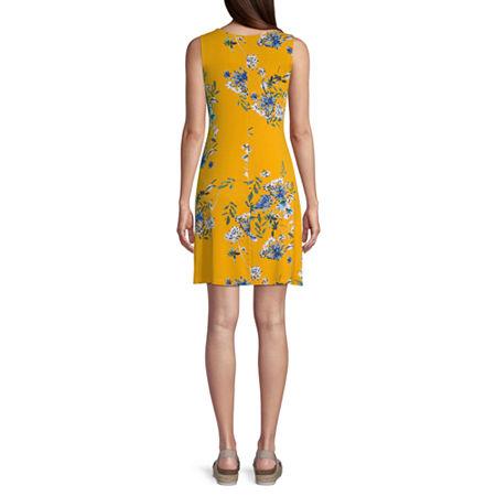 a.n.a. Tall Sleeveless Swing Dress, Large , Yellow