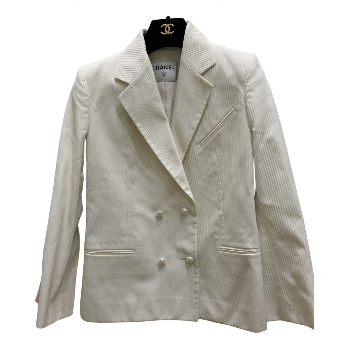 Chanel - Veste   pour femme - blanc