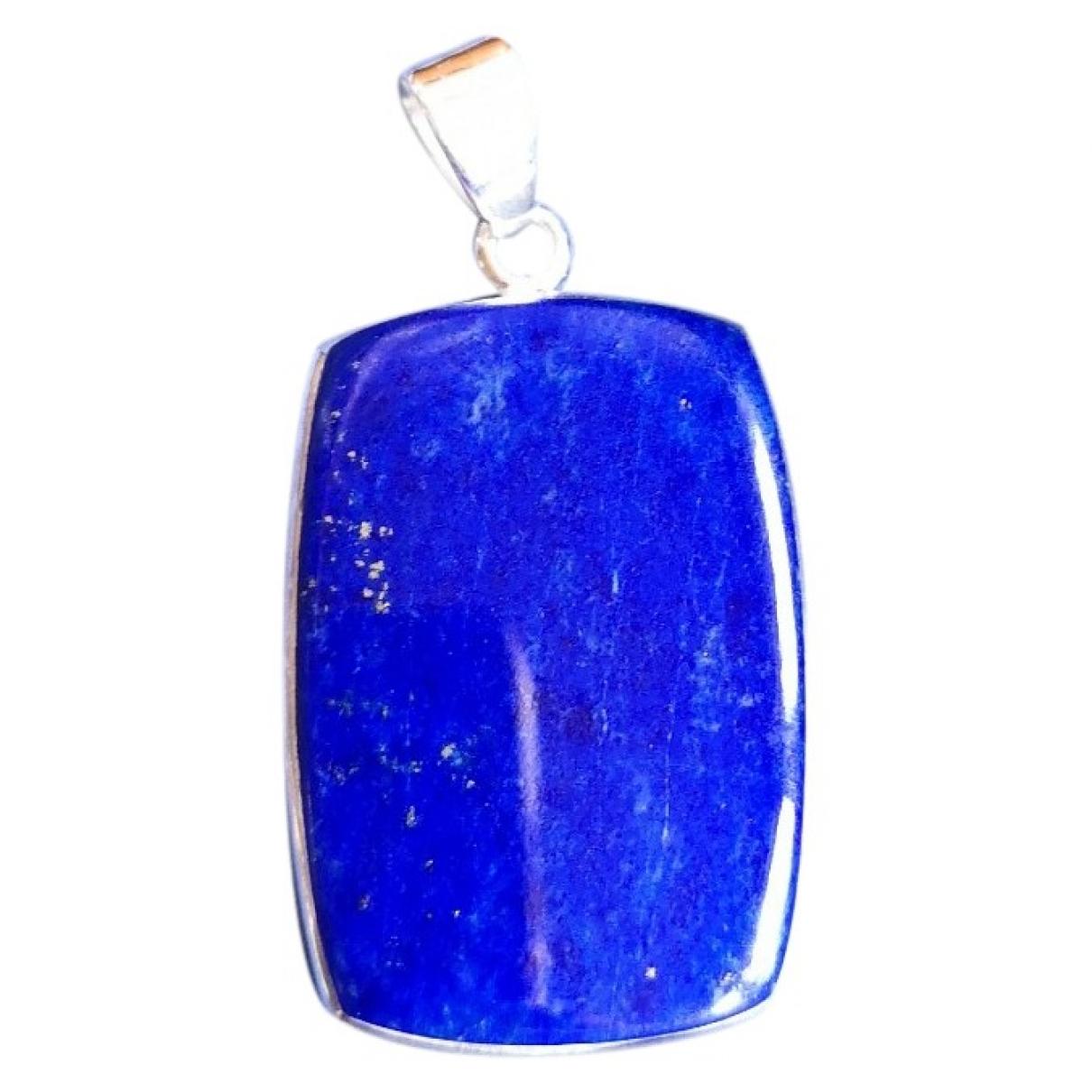 - Pendentif Lapis lazuli pour femme en argent - bleu