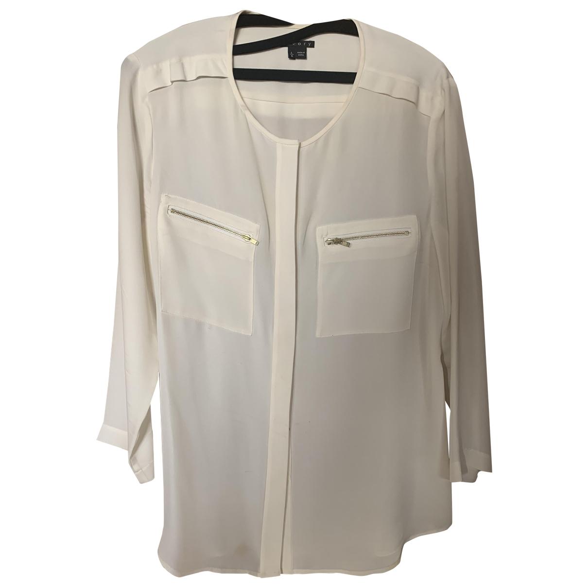 Theory \N White Silk  top for Women L International