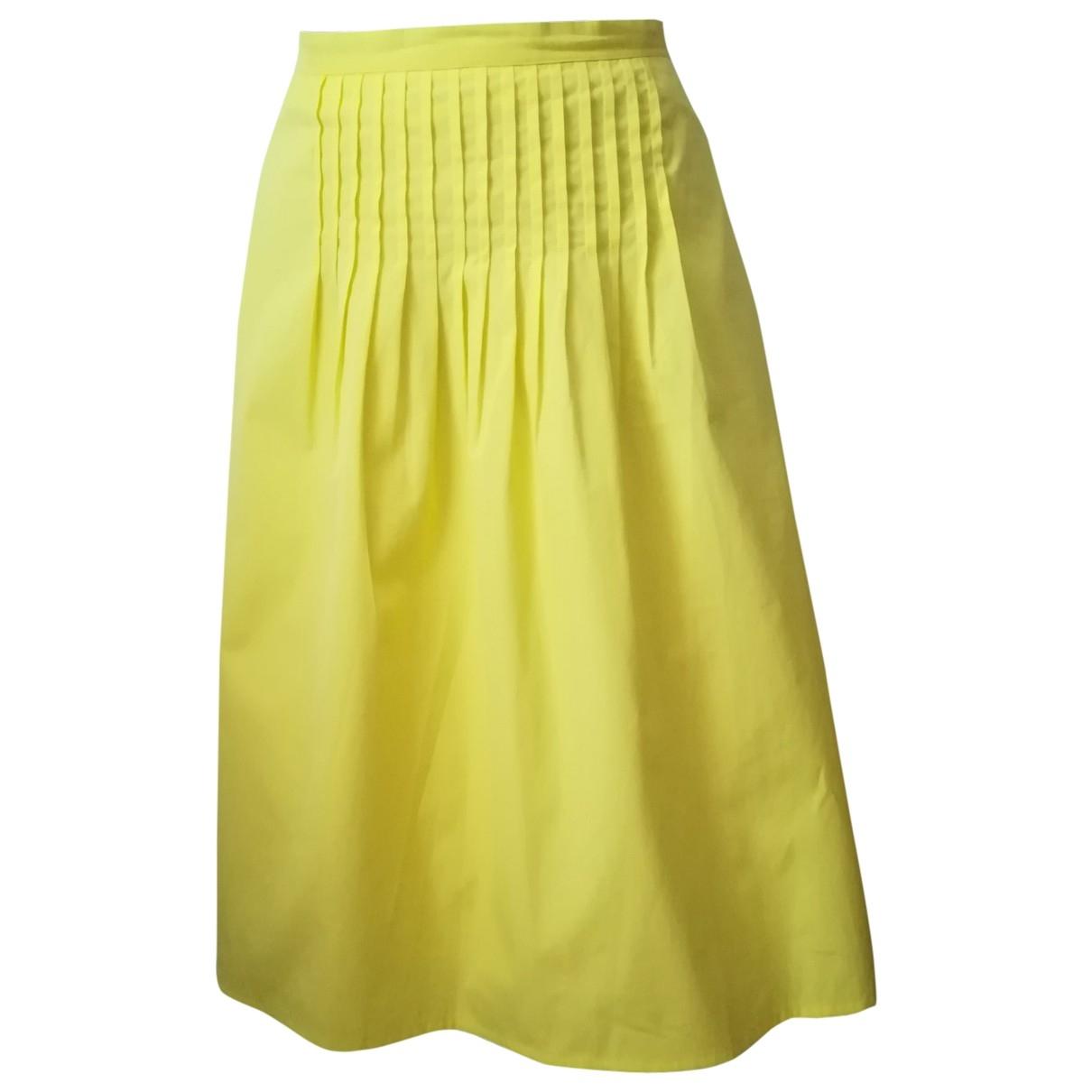 Max Mara Studio \N Yellow Cotton skirt for Women 48 IT