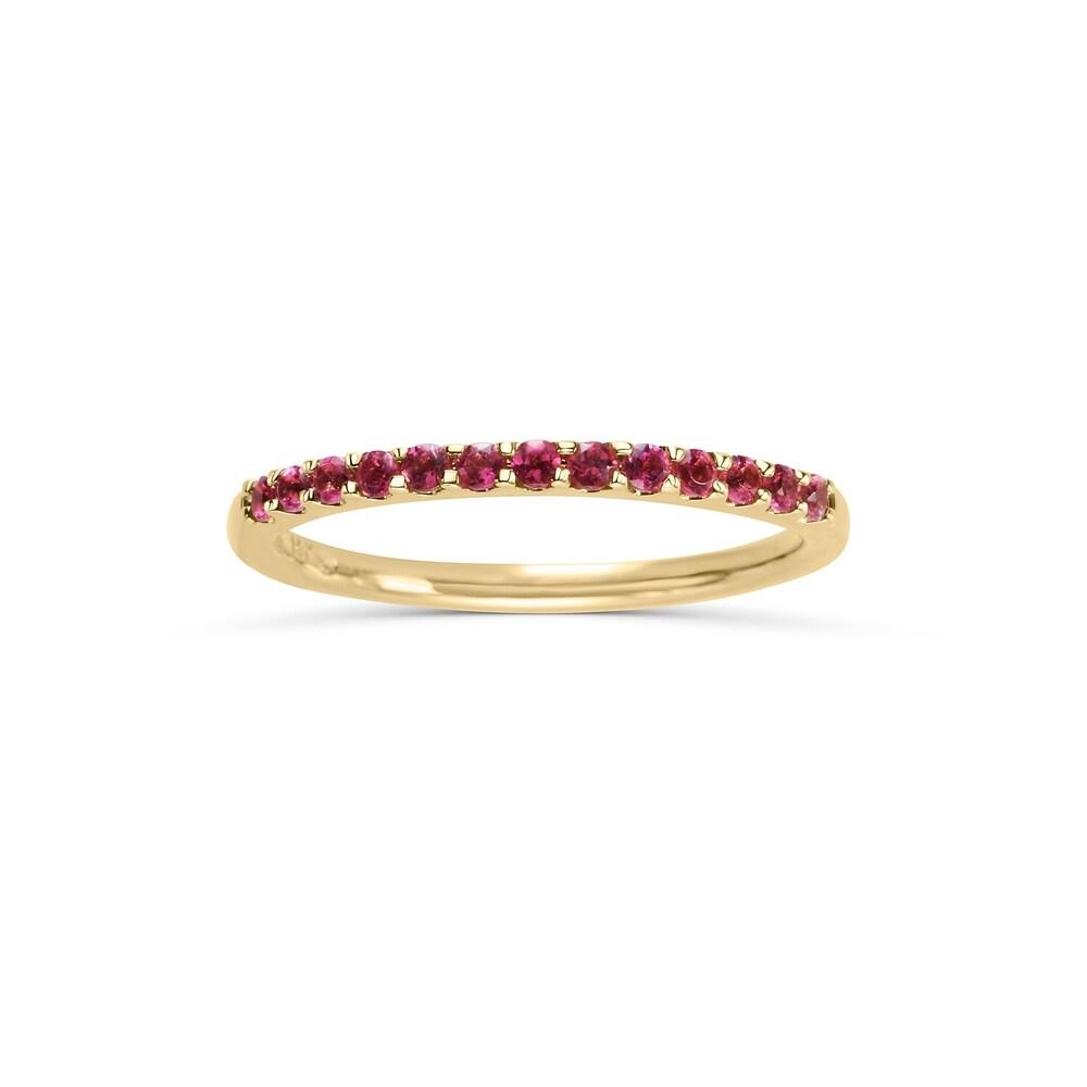 14Karat Yellow Gold Pink Tourmaline Ring (5)