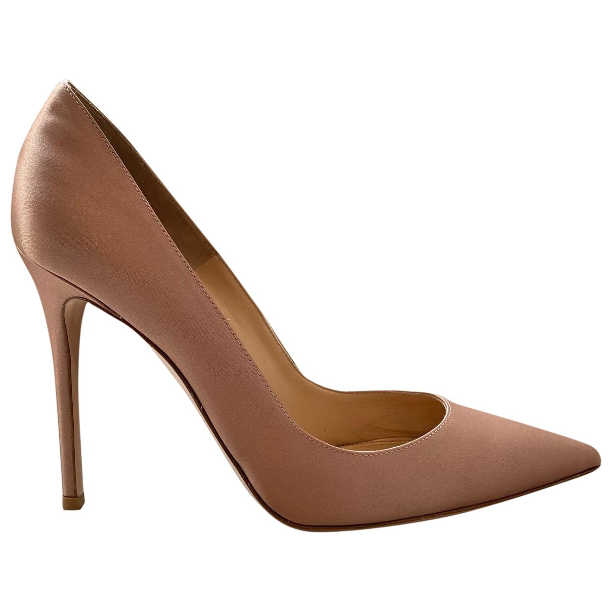 Gianvito Rossi Gianvito Pink Cloth Heels for Women 40.5 EU