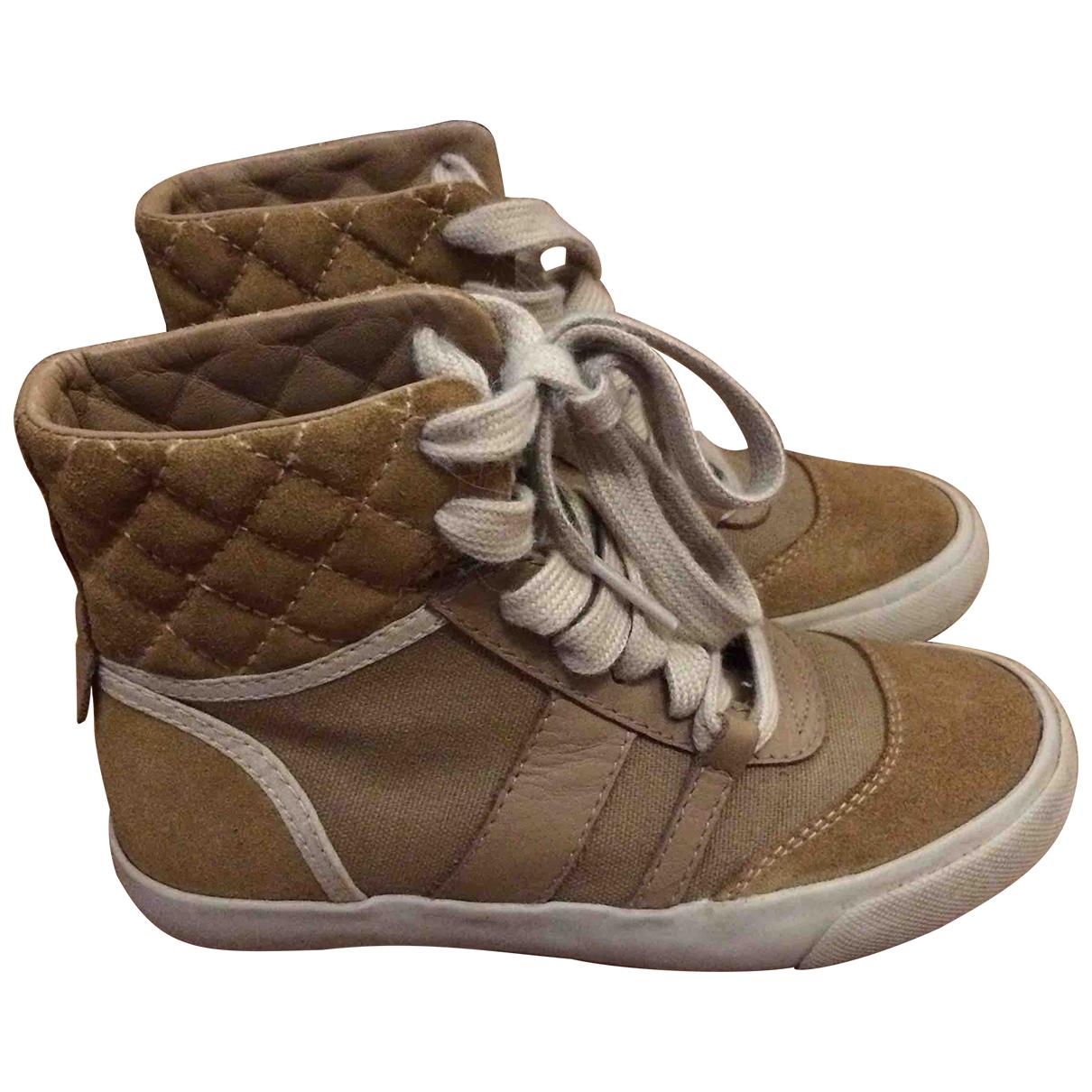 Chloe \N Sneakers in  Beige Leinen
