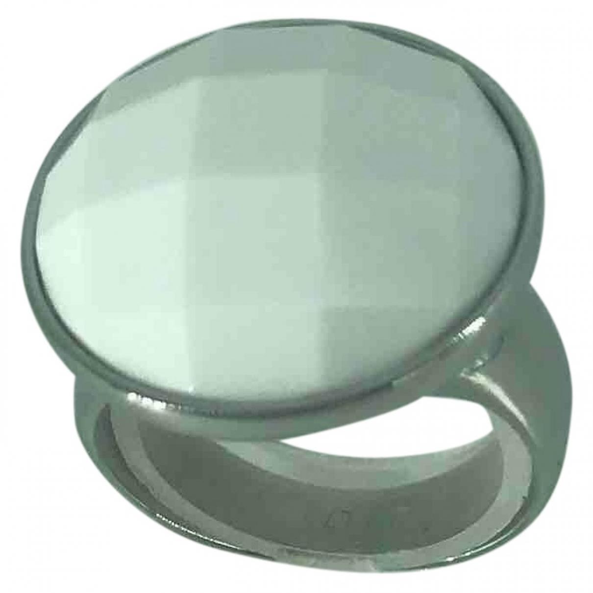 Calvin Klein \N Ring in  Weiss Metall