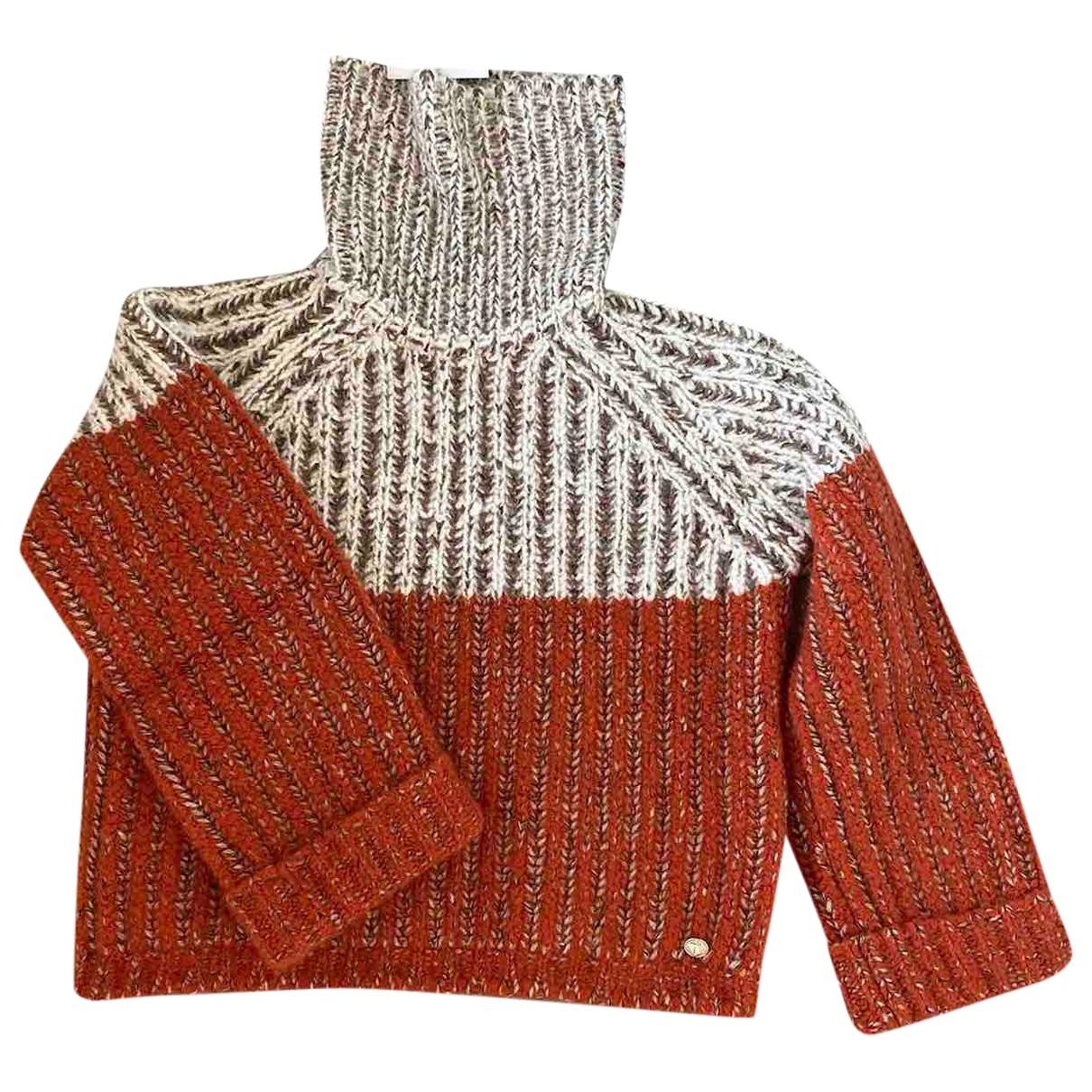 Chanel \N Orange Cashmere Knitwear for Women 34 FR