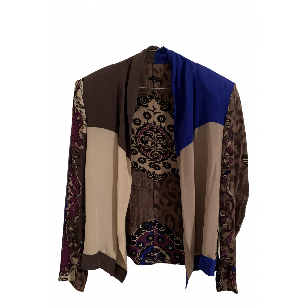 Gianni Versace N Brown Silk jacket for Women 44 IT