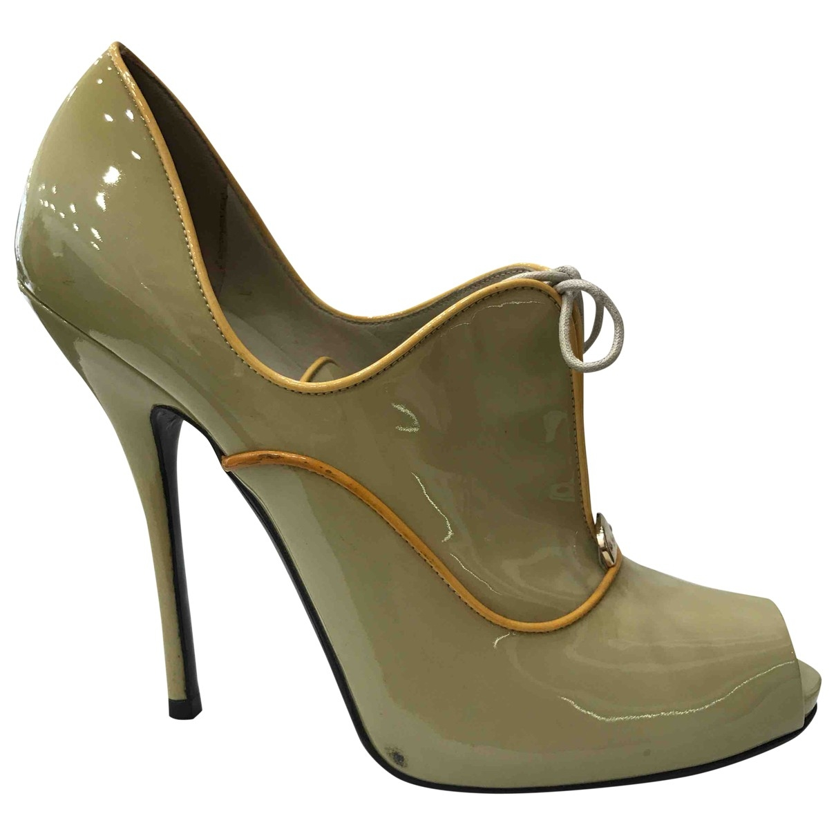 Gucci \N Green Patent leather Heels for Women 40 EU